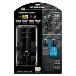 Monster 101649 6 Outlet Power Black Platinum 600 And Cleanin