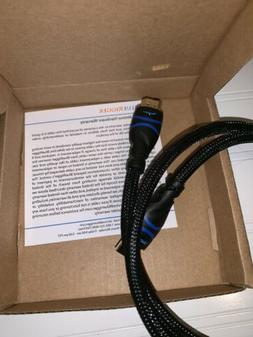 BlueRigger Rugged High Speed HDMI Cable - 3 Feet  - Nylon Br