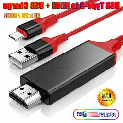 For Samsung Galaxy Note 10 9 S10 Plus Type-C USB-C to HDMI H