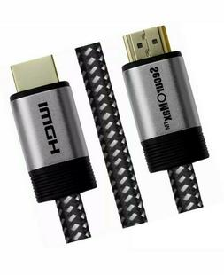 SecurOMax HDMI 10ft Braided Cord Cable PC Apple Tv PS3 PS4