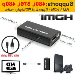 For Sony Playstation 2 PS2 to HDMI Converter Adapter Cable H