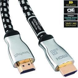 4K HDMI Cable 12ft-HDMI 2.0 Cord Supports 1080p, 3D, 2160p,