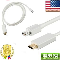 6 FT Thunderbolt Mini Display Port To HDMI Cable For Apple i
