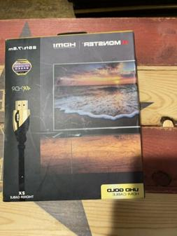 Monster UHD GOLD HDMI 2.0 Cable 25' Ft / 7.6m 4kHDR NEW 2x