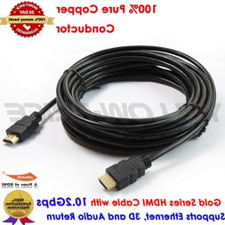 Ultra Long HDMI v1.4 Cable 30FT 9.2M, Gold Series, US Seller