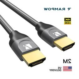 US iVANKY 2M Braided Ultra HD HDMI Cable V2.0 High Speed 216