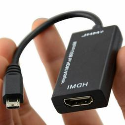 USA Micro USB MHL 2.0 To HDMI HDTV TV HD Adapter Cable for C