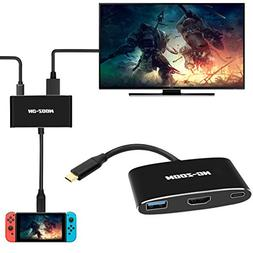 NC-ZOOM USB-C HDMI Adapter for Nintendo Switch,Type C USB to