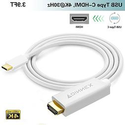 USB-C to HDMI 4K Cable, FOINNEX USB Type-C HDMI Adapter Cord