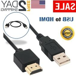 USB to HDMI Cable Male Charger Cable Splitter Adapter HDTV P