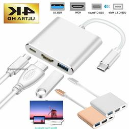 USB Type C to HDMI HDTV AV TV Cable Adapter For Samsung S8 S