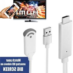 Wireless WIFI Phone To TV HDMI Adapter hdtv Cable For iPhone