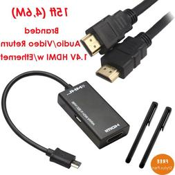 YarMonth-Micro USB to HDMI MHL Adapter Cable for HTC Evo 3D,